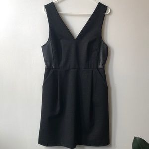 Dresses & Skirts - Madewell Jumper Dress with leather panel detail